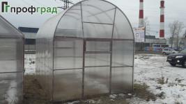 Теплица коньковая «Профградочка» с арочной крышей