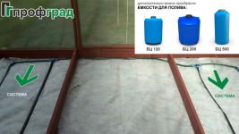 Система капельного полива для теплиц и емкости